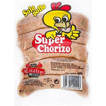 CUATRO RIOS Súper chorizo parrillero de pollo Bolsa 500 g
