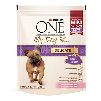One Purina Mini menu delicate Salmón 800 gr