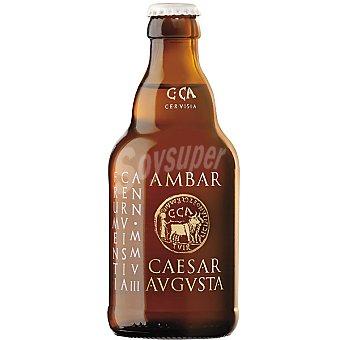 AMBAR CAESARAVGVSTA Cerveza de trigo nacional Botella 33 cl