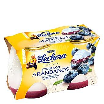 La Lechera Nestlé Yogur con arándanos Pack de 2 unidades de 125 g