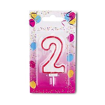 Vela cumpleaños N 2 u