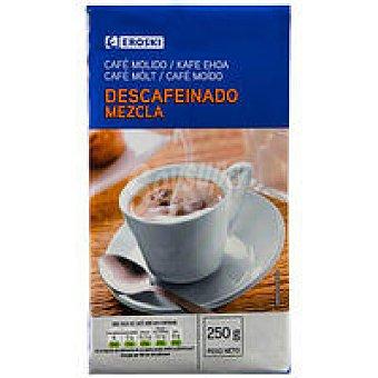 Eroski Café molido descafeinado mezcla Paquete 250 g