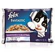 Fantastic comida húmeda para gatos selecciones favoritas en gelatina 4 unidades Sobre 100 g Purina Felix
