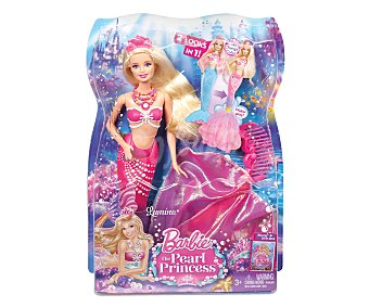 """BARBIE Muñeca Princesa Sirena Lumina, de la Película """"Barbie y la Princesa de las Perlas"""" 1 Unidad"""