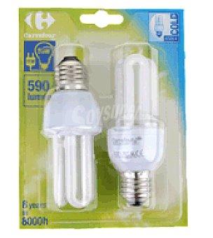 Carrefour 2 bombillas 11W E27 fria