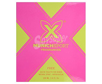 MUNICH FREE Colonia para mujer con vaporizador en spray 100 ml