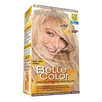 Belle Color Garnier Tinte rubio extra claro natural nº 110 con aceite de jojoba y germen de trigo coloración permanente 1 unidad