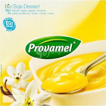 SANTIVERI PROVAMEL Bio Soya Dessert Postre de soja sabor vainilla Pack 4 tarrina 125 g