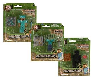 GIOCHI PREZIOSI Blister con figura surtidas de Minecraft más 1 accesorio y 1 bloque de construcción 1 unidad