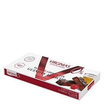 Virginias Turrón trufado de chocolate con guindas al licor 200 g