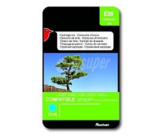 Auchan Cartucho Cian T0552(E35) - Compatible con impresoras: epson Stylus Photo R240/ R245 / RX420 / RX425 / RX520