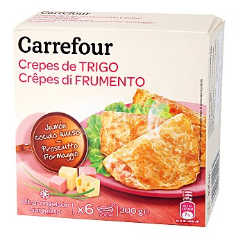 Carrefour Crepes jamón y queso Pack 6x50 g