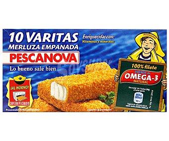 PESCANOVA Varitas de merluza empanada estuche 300 g 10 unidades