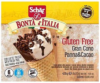 Schär Cono nata/chocolate Pack 6 x 85 ml