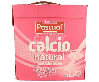 Pascual Leche Desnatada Calcio Pack 6x1 litro