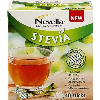 NEVELLA STEVIA Edulcorante en sticks estuche 60 g 40x15 g