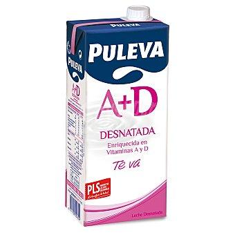 PULEVA Leche desnatada con vitamina A+D envase 1 l