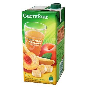 Carrefour Néctar de melocotón y plátano Carrefour brik 1 L 75 cl