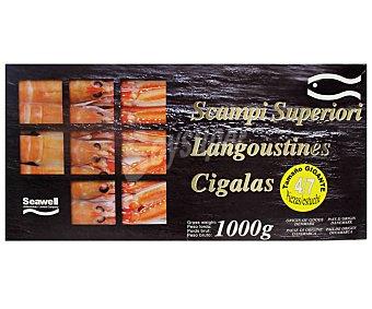 Marisco Cigala 4/7 piezas,, caja de 1 kilogramo 1kg