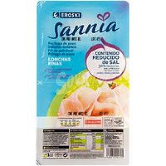 Eroski Sannia Pechuga pavo reducida de sal Pack 2x100 g