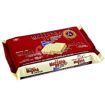 HIPERCOR Wafers rellenos de cacao con autentico chocolate suizo  estuche 175 g