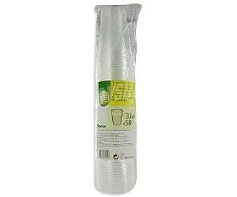Productos Económicos Alcampo Vasos transparentes capacidad 33 cl 50 unidades