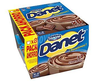 Danet Danone Natillas de chocolate pack 8 unidades de 125 gramos