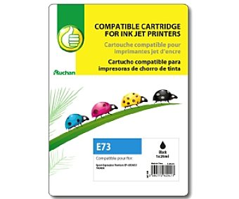 Productos Económicos Alcampo Cartucho Negro Epson 26XL (E73) Compatible con: Expression Photo xp-600,605,700,800