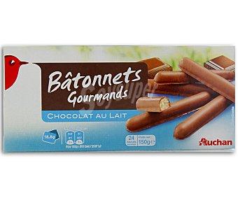 Auchan Palitos de galleta recubiertos de chocolate con leche 150 gramos
