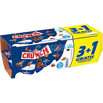 Crunch Nestlé Yogur natural con bolitas de Crunch pack 3 unidades 115 g + 1 unidad gratis Pack 3 unidades 115 g