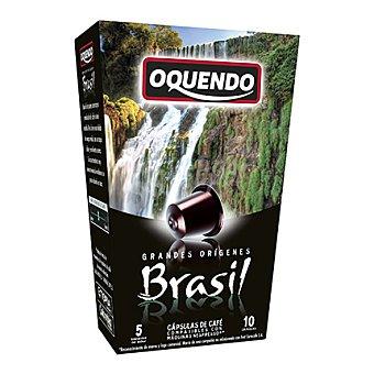 Oquendo Cápsulas de café Brasil 10 ud