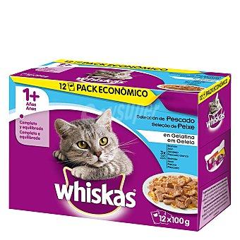 Whiskas Comida para gatos pescado 12 ud