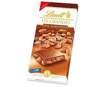 Lindt Chocolate Les Grandes con leche con 32% de almendras Tableta 150 g