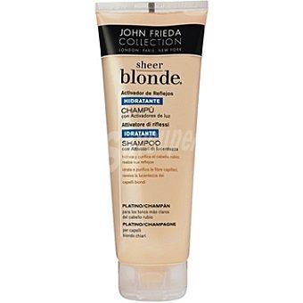 JOHN FRIEDA Sheer Blonde Champú activador de reflejos hidratante platino champán Frasco 250 ml
