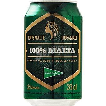 El Corte Inglés Cerveza rubia 100% Malta lata 33 cl Lata 33 cl