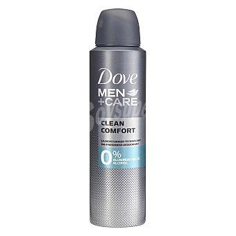 Dove Desodorante en spray para hombre care Clean comfort 0% aluminum salts alcohol 150 ml