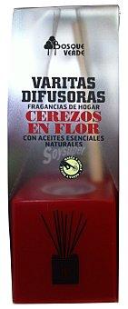 Bosque Verde Ambientador varitas difusoras cerezos en flor (rojo) 40 cc