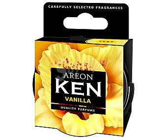 AREON Ambientador en gel para coche, en envase de lata con dosificador y con olor a dulce vainilla, serie Ken 1 unidad