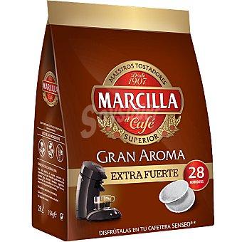 Marcilla Gran Aroma café en monodosis extra fuert gran aroma Paquete 28 c