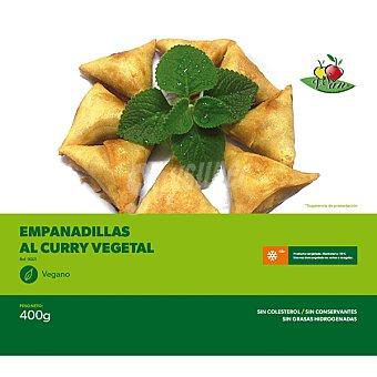 VEGESAN empanadillas vegetales al curry sin colesterol sin conservantes congelado vegano envase 400 g