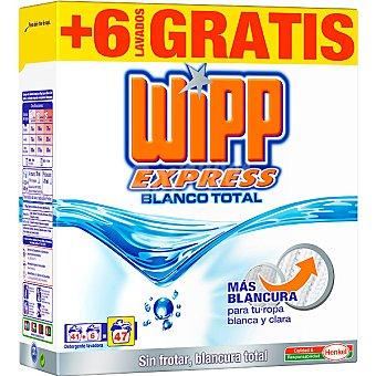 WIPP EXPRESS detergente máquina polvo Blanco Total  maleta 41 cacitos + 6 gratis