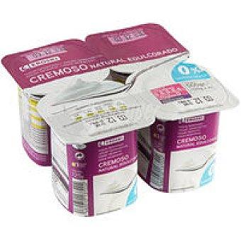 Eroski Yogur natural cremoso edulcorado 0% Pack 4x125 g