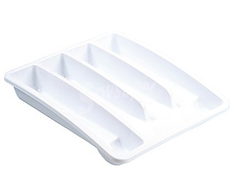 ARAVEN Bandeja/cubertero de plástico de color blanco 1 Unidad