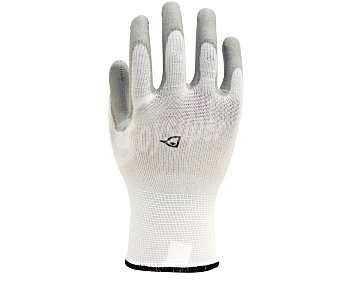Auchan Par de guantes de jardín en nylon y nitrilo, con protección hasta medio dorso, ideales para la plantación de arbustos y plantas y realizar trabajos con tierra, talla 7 1 unidad