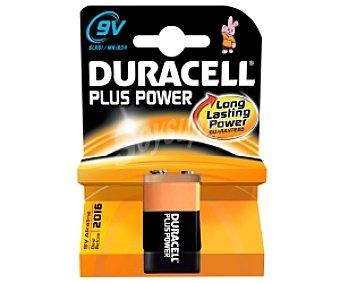 DURACELL Plus Power Pila alcalina 9V 6LR61 1 Unidad