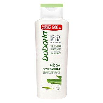 Babaria Body milk protector y reafirmante con vitamina E y aloe vera 500 ml