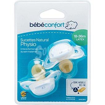 Bébé Confort Set 2 chupetes Natural Physio de latex 18-36 meses