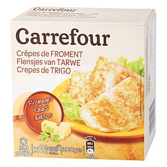 Carrefour Crepes de trigo con relleno de queso 300 g