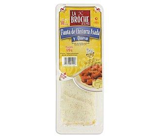 LA BROCHE flauta de chistorra asada y queso envase 120 g 1 unidad