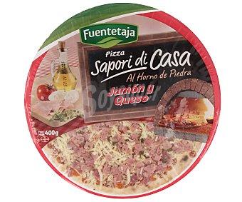 Fuentetaja Pizza de Jamón y Queso 400 Gramos